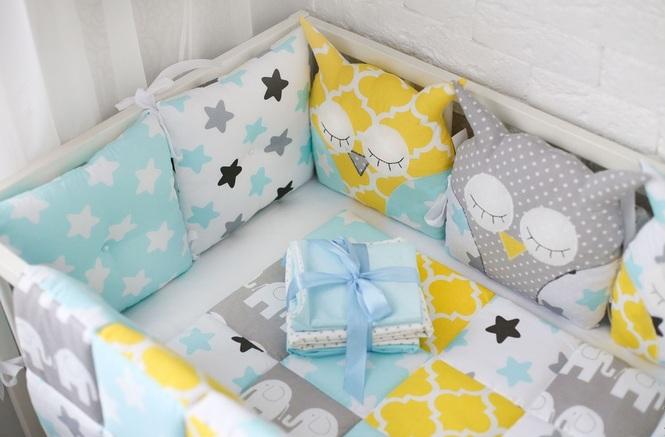 Комплект подушек в кроватку для новорожденных